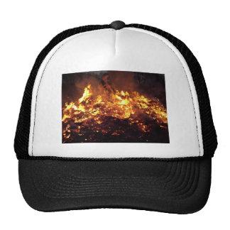 Fire in forest trucker hat