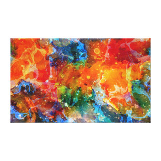 Fire In Haven-Colorful Abstract Art Canvas Print