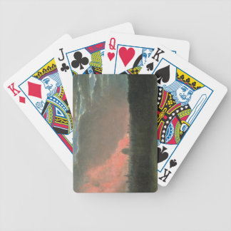Fire in London seen from Hampstead (oil on paper l Bicycle Playing Cards