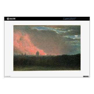 """Fire in London seen from Hampstead (oil on paper l Decals For 15"""" Laptops"""