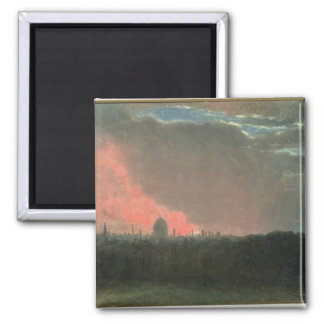 Fire in London seen from Hampstead (oil on paper l Magnet