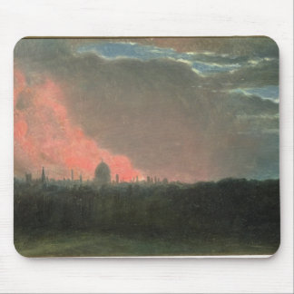 Fire in London seen from Hampstead (oil on paper l Mouse Pad
