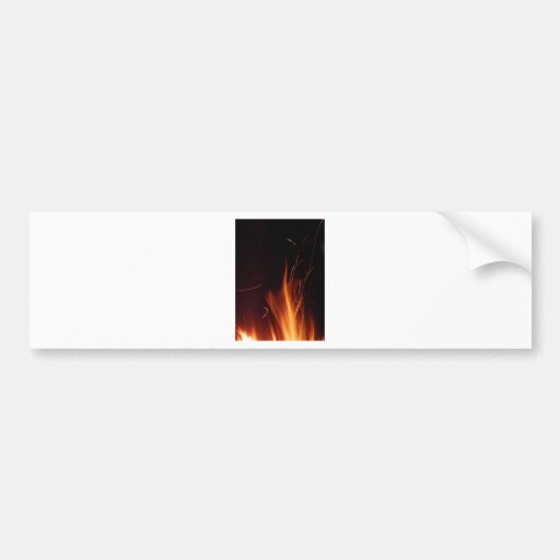 Fire in summer night. bumper sticker