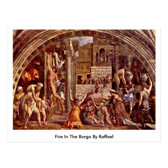 Fire In The Borgo By Raffael Postcard