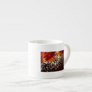 Fire in the corn field espresso cup