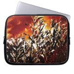 Fire in the corn field laptop sleeve
