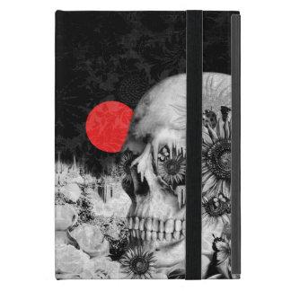 Fire in the dark, floral night skull iPad mini case