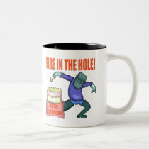 Fire In The Hole 40th Birthday Gifts Two-Tone Coffee Mug