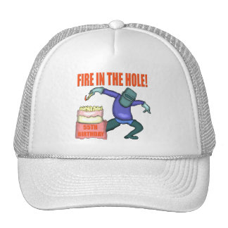 Fire In The Hole 55th Birthday Gifts Mesh Hat