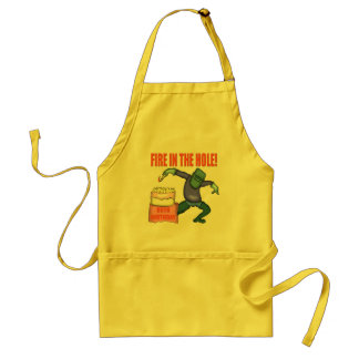 Fire In The Hole 90th Birthday Gifts Aprons