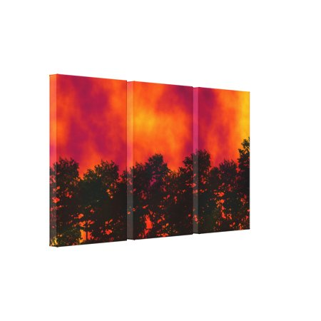 Fire in the Sky 2 Wrapped Canvas Print