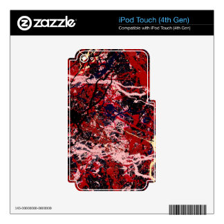 FIRE IN THE SKY (an abstract art design) ~ iPod Touch 4G Skin