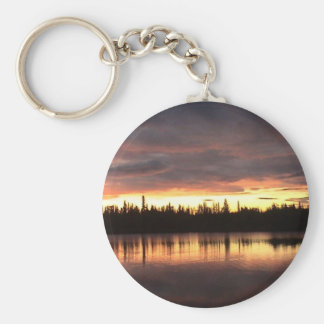 Fire in the Sky Basic Round Button Keychain