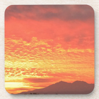 Fire In The Sky Beverage Coaster