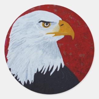 Fire In The Sky Eagle. Classic Round Sticker