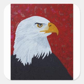 Fire In The Sky Eagle. Square Sticker