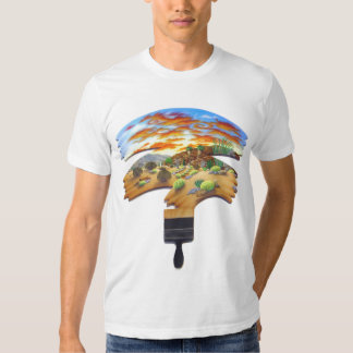 Fire in the Sky Fitted T-Shirt