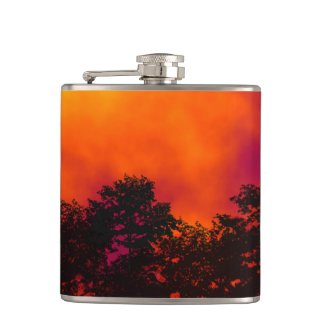 Fire in the Sky Hip Flask