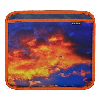 Fire in the Sky iPad Sleeve Horizontal