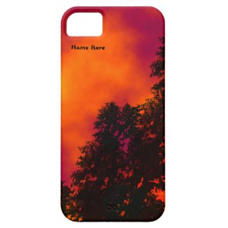 Fire in the Sky iPhone 5/5S Case