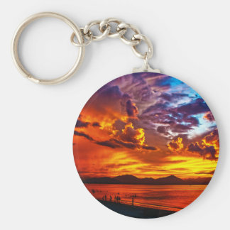 Fire in the Sky Keychains