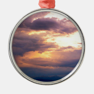 FIRE IN THE SKY METAL ORNAMENT
