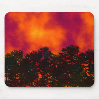 Fire in the Sky Mouse Pad