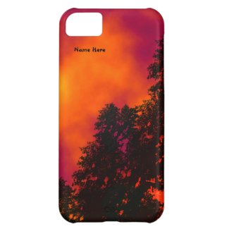 Fire in the Sky Personal Cover For iPhone 5C