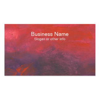 Fire in the Sky Purple and Red Abstract Landscape Pack Of Standard Business Cards