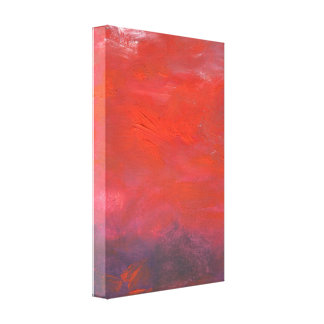 Fire in the Sky Purple and Red Abstract Landscape Canvas Print