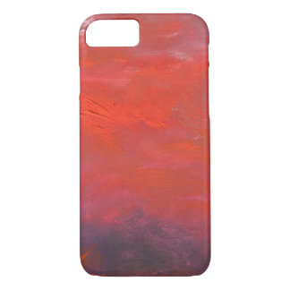 Fire in the Sky Purple and Red Abstract Landscape iPhone 8/7 Case