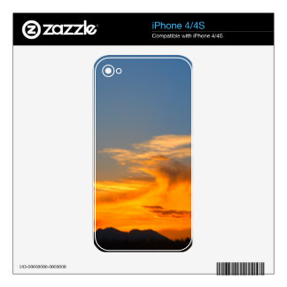 Fire in the sky skins for the iPhone 4