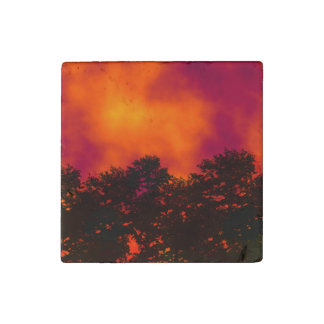 Fire in the Sky Stone Magnet