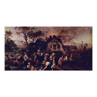 Fire In The Village The Fire By Knaus Ludwig Be Picture Card
