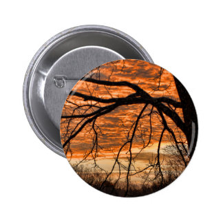 Fire in the Winter Morning Sky Pinback Button