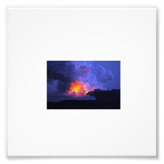 Fire in Volcano Photo Art