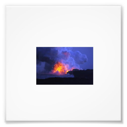 Fire in Volcano Photo Art