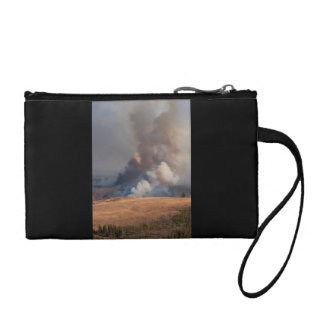Fire in Yellowstone Change Purse