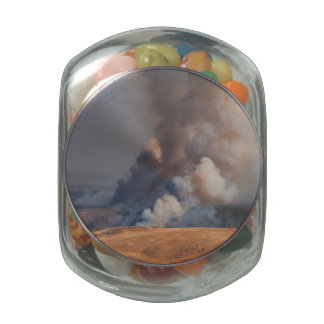 Fire in Yellowstone Jelly Belly Candy Jars
