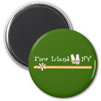 Fire Island 2 Inch Round Magnet
