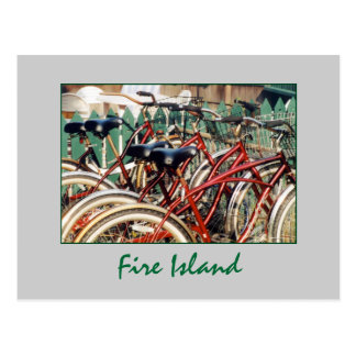 'Fire Island Bicycles' Postcard