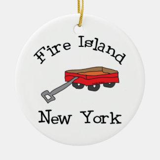 Fire Island Ceramic Ornament