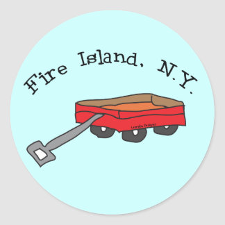 Fire Island Classic Round Sticker