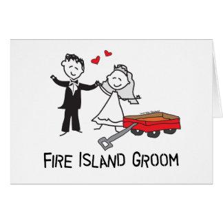 Fire Island Groom Greeting Cards