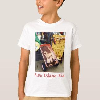 'Fire Island Kid' Colored Wagons  Kid's T-shirt