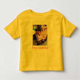 'Fire Island Kid' Colored Wagons  Toddler T-shirt