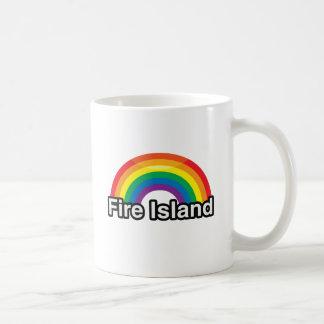 FIRE ISLAND LGBT PRIDE RAINBOW -.png Classic White Coffee Mug