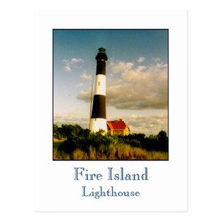 'Fire Island Lighthouse at Sunset' Postcard