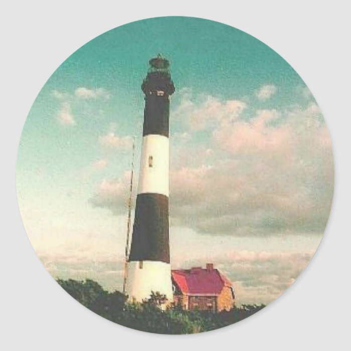 'Fire Island Lighthouse at Sunset' Stickers
