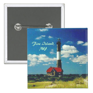 Fire Island Lighthouse Square Button